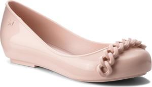 Różowe baleriny Zaxy z płaską podeszwą w stylu casual