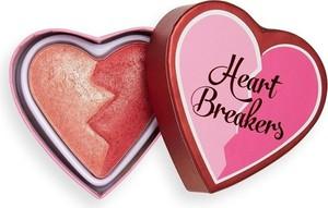 Makeup Revolution I Heart Revolution, Heartbreakers, Shimmer Blush, róż rozświetlający do twarzy, strong, 10g