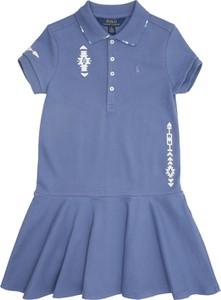 Niebieska sukienka dziewczęca POLO RALPH LAUREN