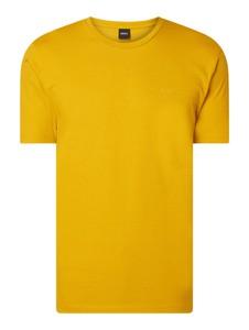 T-shirt Boss z nadrukiem z krótkim rękawem z bawełny