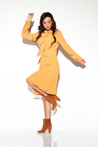 Żółta sukienka Lemoniade z długim rękawem