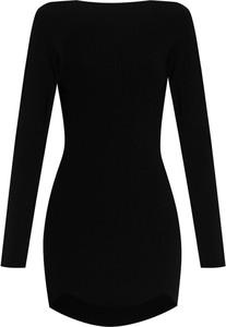 Czarna sukienka Dsquared2 z dzianiny mini