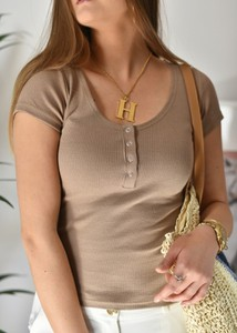 Bluzka Fason w stylu casual z krótkim rękawem z bawełny