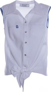 Bluzka Fokus w stylu casual z kołnierzykiem