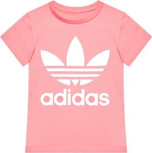 Różowa koszulka dziecięca Adidas dla chłopców z krótkim rękawem