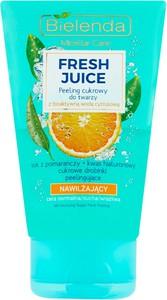 Bielenda Fresh Juice Peeling Cukrowy Do Twarzy Z Bioaktywną Wodą Cytrusową Nawilżający 150 G