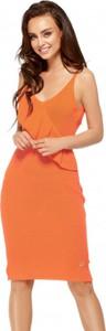 Pomarańczowa sukienka Lemoniade na ramiączkach z dekoltem w kształcie litery v midi