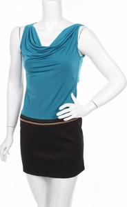 Niebieska sukienka Fashion Style prosta bez rękawów mini