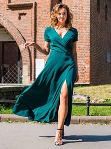 Sukienka Grandio maxi z krótkim rękawem