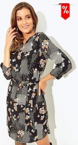 Sukienka Kaskada z długim rękawem koszulowa