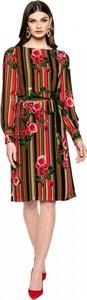 Sukienka L'AF midi z długim rękawem oversize