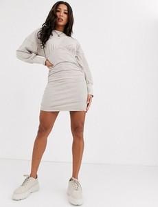 Sukienka Asos Design z długim rękawem z dresówki