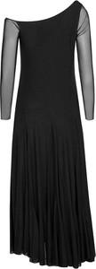 Czarna sukienka Byinsomnia maxi z asymetrycznym dekoltem asymetryczna