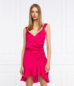Sukienka Guess mini bez rękawów z dekoltem w kształcie litery v