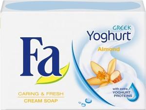 Fa Greek Yoghurt Almond mydło do każdego typu skóry delikatne w kostce 90 g
