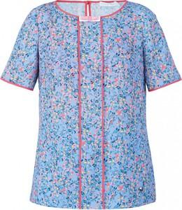 Niebieska bluzka POTIS & VERSO z okrągłym dekoltem