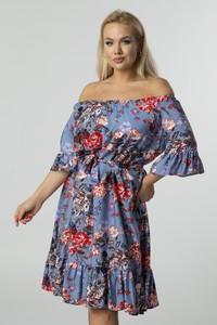 Sukienka Ptakmoda.com z długim rękawem hiszpanka mini