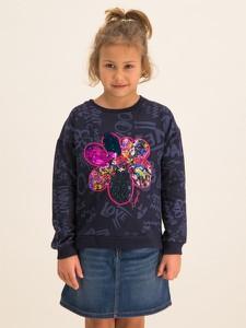 Granatowa bluzka dziecięca Desigual z krótkim rękawem