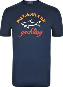 T-shirt Paul And Shark z krótkim rękawem w młodzieżowym stylu
