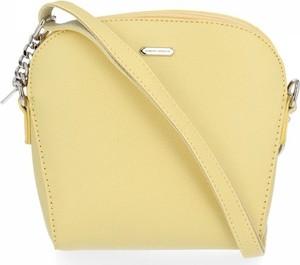 Żółta torebka David Jones średnia w stylu casual