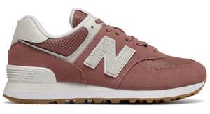 Brązowe buty sportowe New Balance z płaską podeszwą sznurowane