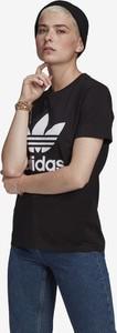 Czarny t-shirt Adidas Originals z bawełny w sportowym stylu