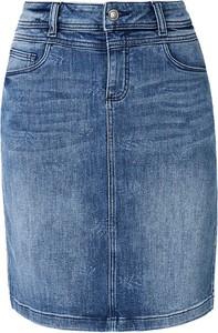 Niebieska spódnica S.Oliver w street stylu