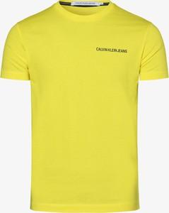 Żółty t-shirt Calvin Klein z bawełny