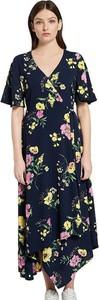 Sukienka Tom Tailor maxi z dekoltem w kształcie litery v z krótkim rękawem