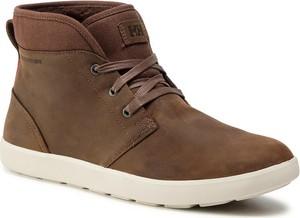Brązowe buty zimowe Helly Hansen w stylu casual