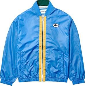Niebieska kurtka Lacoste krótka w młodzieżowym stylu