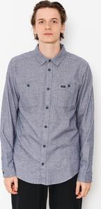 Niebieska koszula RVCA z długim rękawem z bawełny
