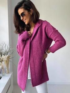 Różowy sweter Versada w stylu casual