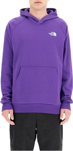 Fioletowa bluza The North Face z bawełny