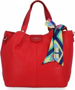 Czerwona torebka David Jones na ramię