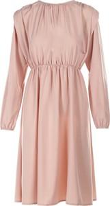 Różowa sukienka Multu mini w stylu casual