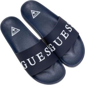 Granatowe buty letnie męskie Guess