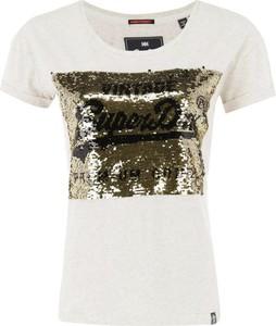 Bluzka Superdry w stylu glamour z krótkim rękawem