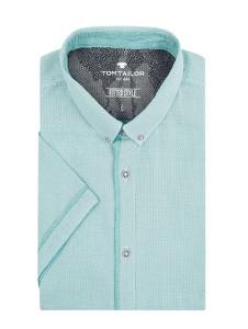 Miętowa koszula Tom Tailor z bawełny