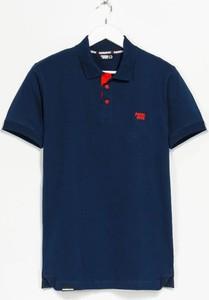 Niebieska koszulka polo Patriotic z krótkim rękawem