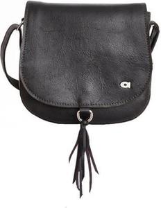 Czarna torebka DAAG ze skóry duża na ramię