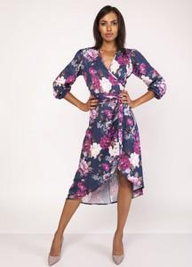 Sukienka Lanti z długim rękawem z dekoltem w kształcie litery v