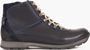 Czarne buty zimowe Kulig ze skóry