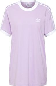 Fioletowa bluzka Adidas Originals z dżerseju