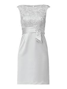 Sukienka Christian Berg Cocktail z okrągłym dekoltem bez rękawów midi
