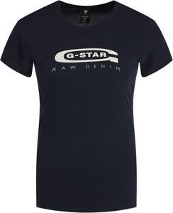 T-shirt G-Star Raw z krótkim rękawem w stylu casual z okrągłym dekoltem