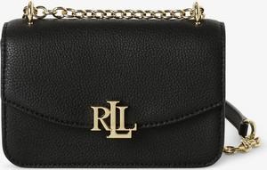Czarna torebka Ralph Lauren ze skóry na ramię