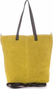 Torebki skórzane typu shopperbag firmy vera pelle żółte