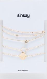 Sinsay - Zestaw bransoletek - Złoty