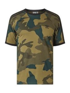 Zielony t-shirt Adidas Originals z krótkim rękawem z bawełny